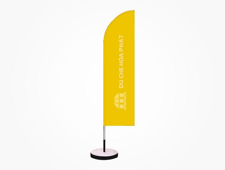 Cờ phướn quảng cáo thương hiệu ngoài trời màu vàng - HPC115
