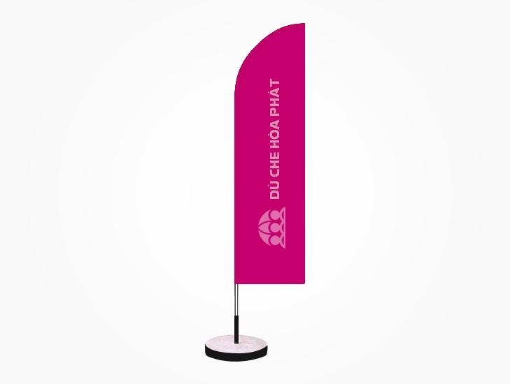 Cờ phướn quảng cáo thương hiệu ngoài trời màu hồng - HPC113