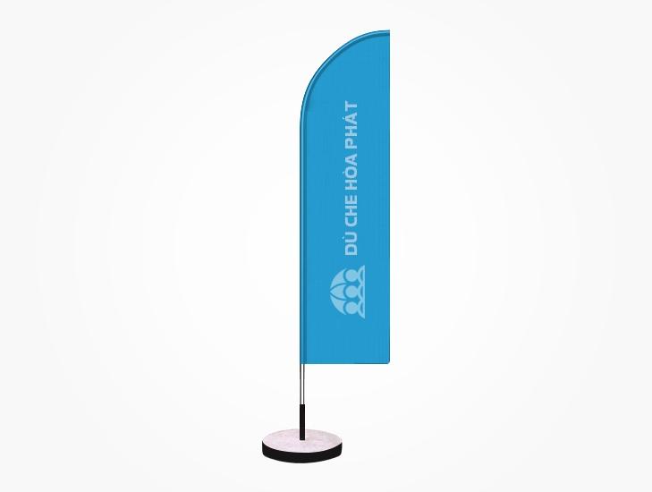 Cờ phướn quảng cáo thương hiệu ngoài trời màu xanh dương nhạt - HPC102