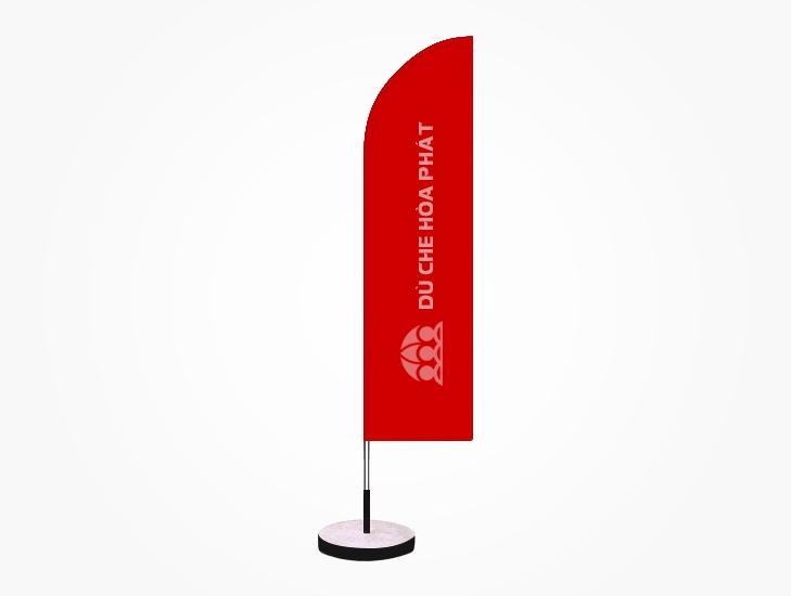 Cờ phướn quảng cáo thương hiệu ngoài trời màu đỏ tươi - HPC112