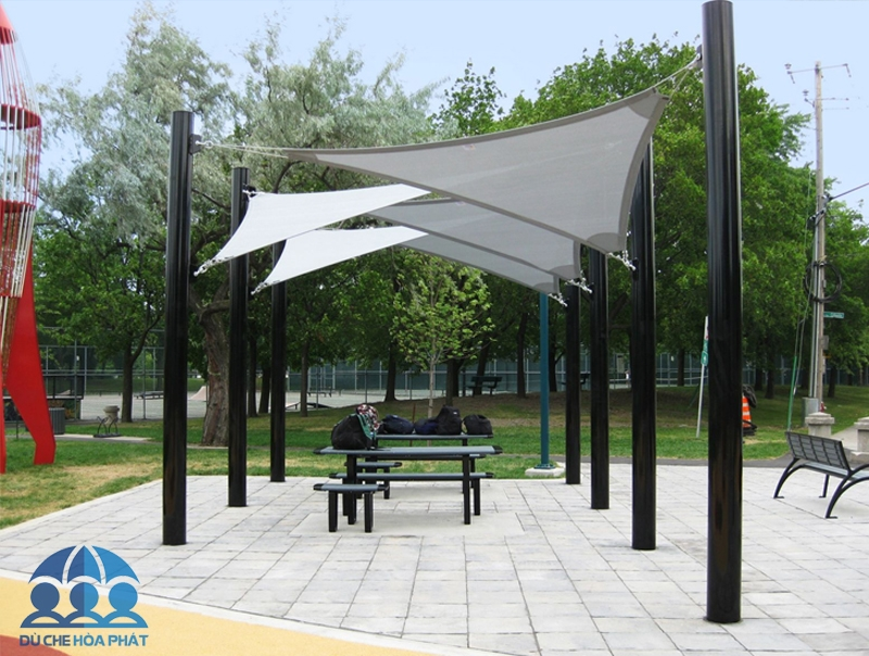 Mái che cánh buồm kiểu tam giác ở công viên - HPB306