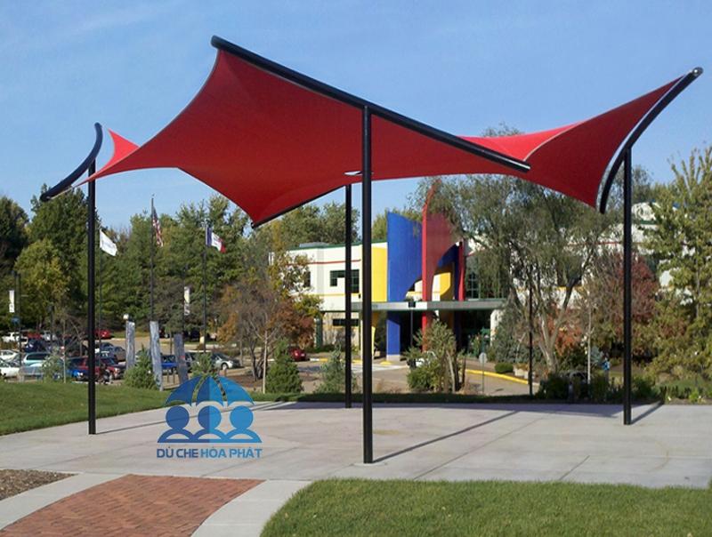 Mái che cánh buồm kiểu tam giác sân trường học - HPB307